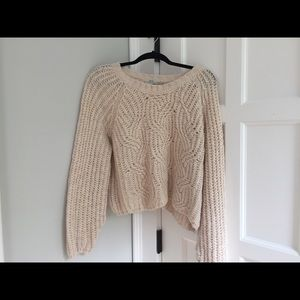 Urban outfitters knit cropped sweater